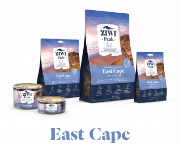 ZIWI®'s East Cape Provenance Range of Dog and Cat food products with 5 meats and fish