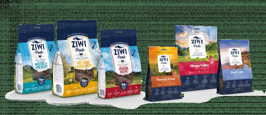 ZIWI Peak Air-dried cat food recipe family