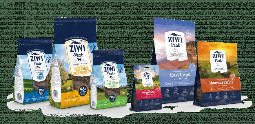 ZIWI Peak Air Dried Dog Recipe Range