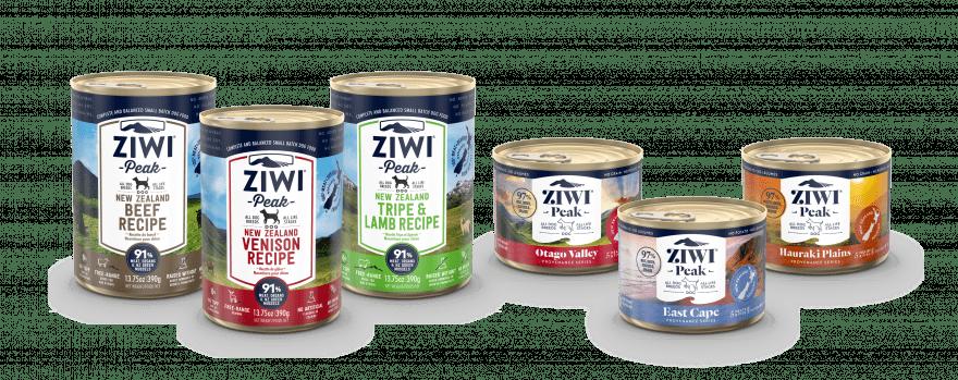 ZIWI Peak Wet Dog Food Recipe Family